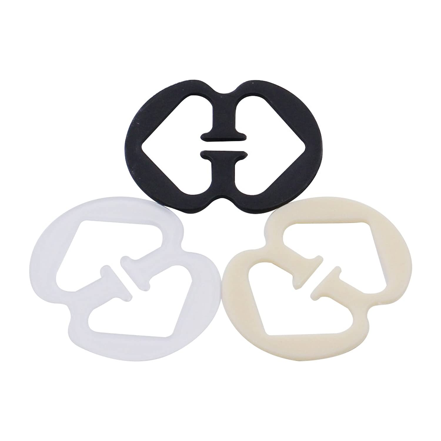Yuri Milner 3 Pieces Bra Strap Clips Racer Back Conceal Straps Cleavage Control