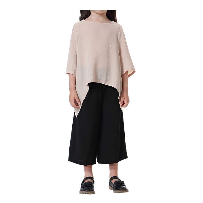 Hzjundasi Chicas del sudeste asiático Tops y Suelto Pantalones Suit - musulmán islámico Los Pantalones de