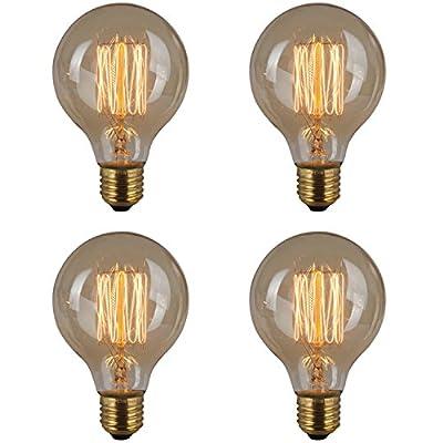 Vintage Edison Squirrel Cage Teardrop Pendant Bulbs, Tungsten filament bulbs-38W (E26), 60x130mm ¡