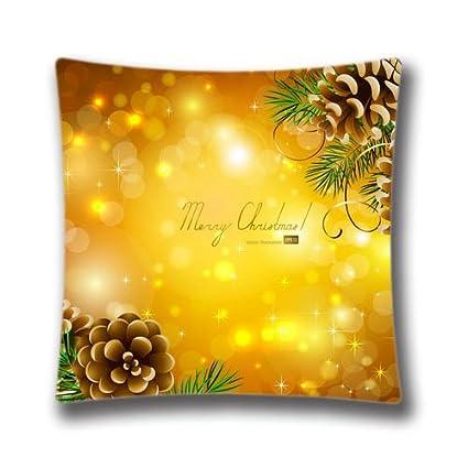 Beautiful Christmas Background Images.Amazon Com Christmas Theme Square 20x20 Cotton Polyester