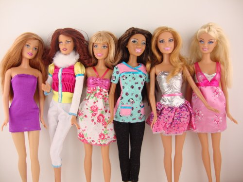 Group of 6 Outfits Very Trendy Made to Fit the Barbie Doll, Baby & Kids Zone
