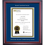 Campus Linens American Nurses Credentialing Center Certificate Frame Blue Light Blue Matting Embossed