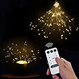diy outdoor christmas decorations 2 Pack Firework Lights, LED String Light, 8 Modes 148 LED Dimmable Fairy Lights, LED Decorative Lights DIY Led Light for Christmas, Home, Patio, Indoor and Outdoor as A Decoration (148 White)