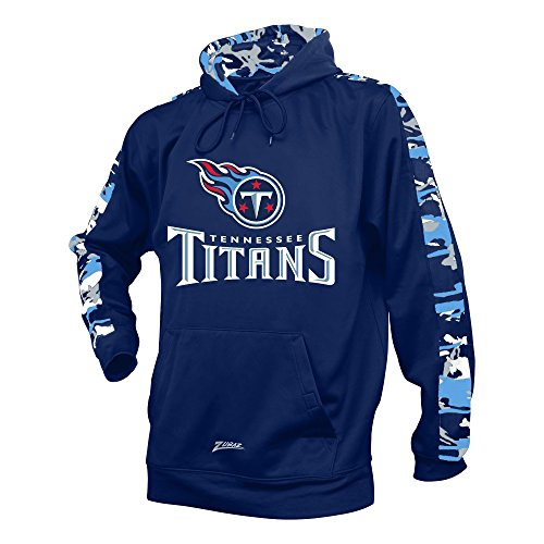 NFL Tennessee Titans Men's Zubaz Camo Print Accent Team Logo Synthetic Hoodie, X-Large, Navy (Mens Tennessee Hoodie)