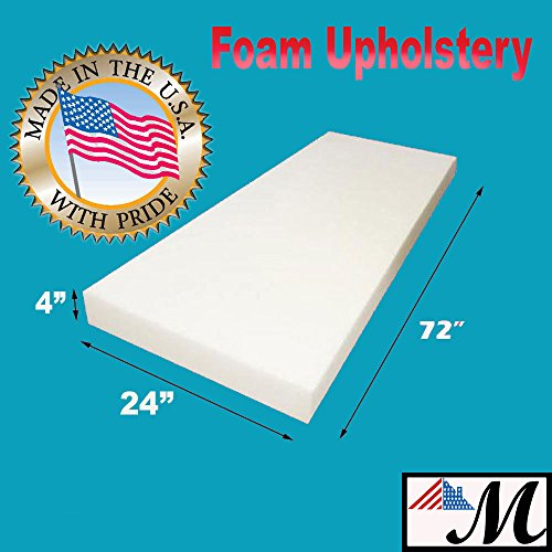Mybecca Upholstery Foam Cushion(Seat Replacement, Upholstery Sheet, Foam Padding), 4' H x 24' W x 72' L