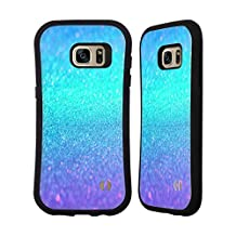 Official Haroulita Turquoise And Purple Glitter Sparkle Hybrid Case for Samsung Galaxy Note5 / Note 5