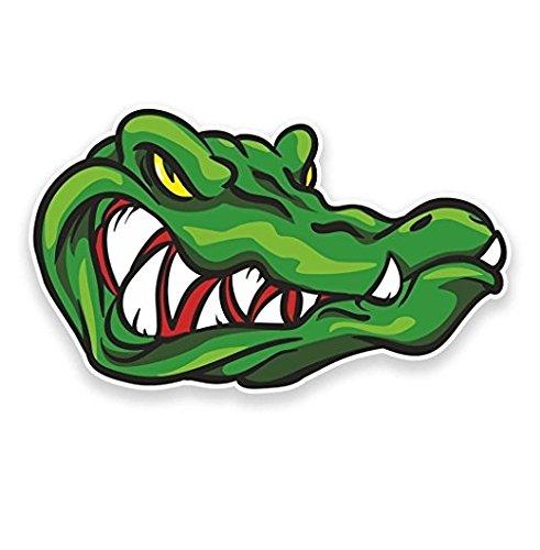 3 Pack - Crocodile Alligator WINDOW CLING STICKER Car Van Campervan Glass - Sticker Graphic - Construction Toolbox, Hardhat, Lunchbox, Helmet, Mechanic, Luggage