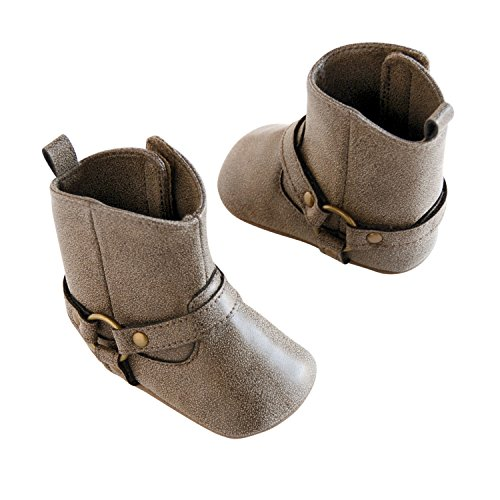 Baby Girls Boots (Carter's Girls' Baby Soft Sole Cowboy Brown, 9 Fashion Boot, Brown Polyurethane Leather, Size 4, 9-12 Months)