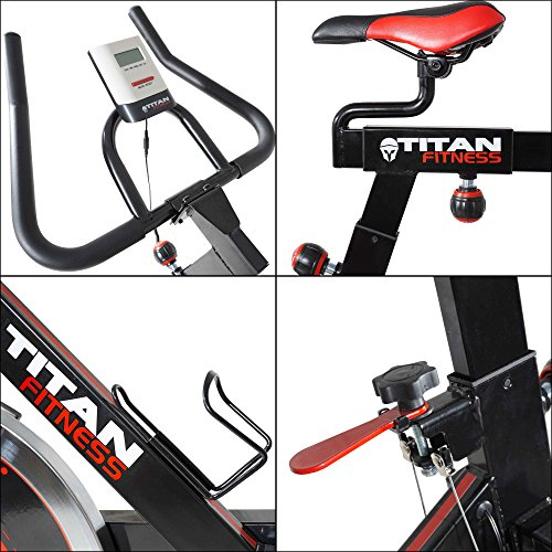 Titan Pro Indoor Exercise Bike w/ 40 lb Flywheel LCD Cycle Cardio Fitness by Titan Fitness (Image #2)