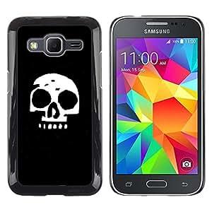 LECELL--Funda protectora / Cubierta / Piel For Samsung Galaxy Core Prime -- Cráneo simple --