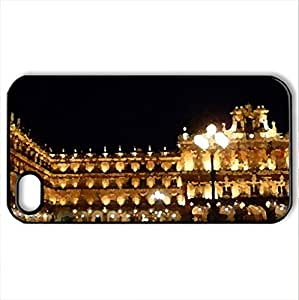 Plaza Mayor de Salamanca, Spain - Case Cover for iPhone 4 and 4s (Monuments Series, Watercolor style, Black)