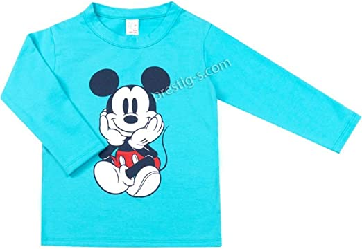 Baby Junge Langarmshirts - Camiseta de manga larga de algodón azul ...