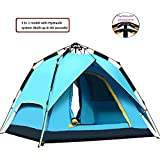 RioRand 2-3 person 3 In 1 Model With Automatic Hydraulic System Backpacking Tents(Orange)