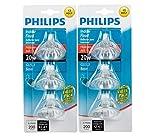 Philips 415687 Indoor Flood 20-Watt MR16 12-Volt Light Bulbs 3Pk x2