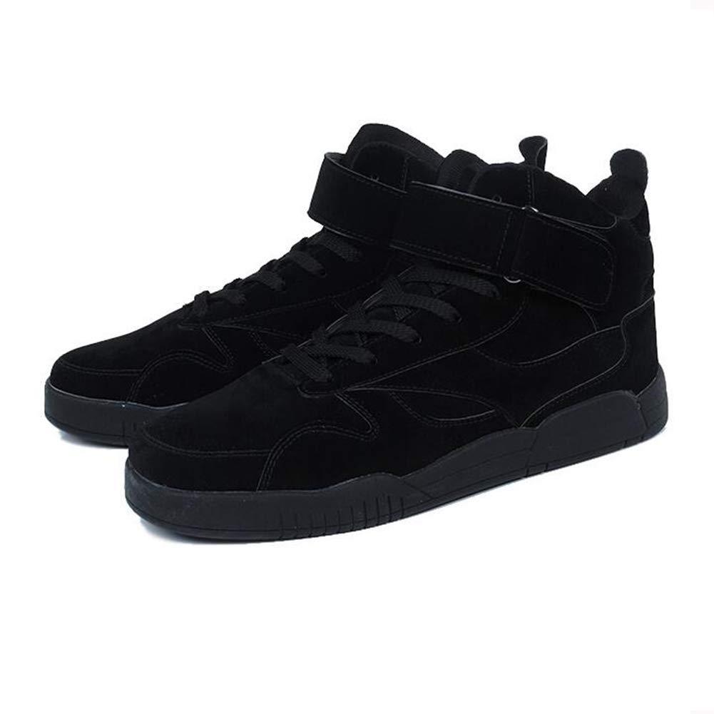 SUNNY Hip-Hop High-Top-Schuhe Baumwollschuhe Basketball Übung Laufschuhe Winter Schwarz Grau Braun Rot (Farbe   SCHWARZ, größe   EU41 UK7.5-8 CN42)