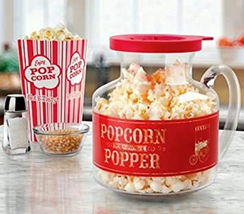 Amazoncom Sharper Image Popcorn Making Kit Kitchen Dining