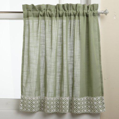 Lorraine Home Fashions Salem 60-inch X 12-Inch Tailored cenefa, Verdesalvia, Tier Pair 60' x 36', 1