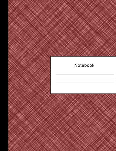 Notebook: 300 Sheets (600 Pages) College Ruled Lined Large Paper Jotter | Writing Pad Practice Journal | Burgundy Crosshatch | Assignments Taking ... University Organizer | Composition Note Book