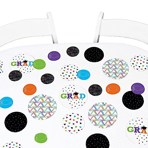 - Big Dot of Happiness Hats Off Grad - Graduation Party Giant Circle Confetti - Party Decorations - Large Confetti 27 Count