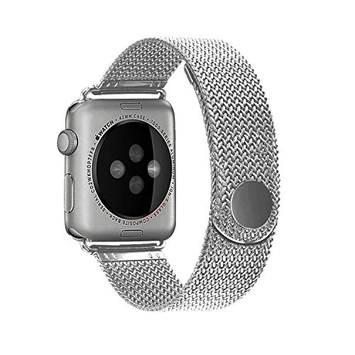 (Cocos Compatible with Apple Watch Band 38mm 40mm 42mm 44mm,Stainless Steel Mesh Loop Replacement Parts for iWatch Band Series 4 3 2 1 )