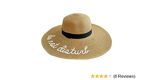 f07359f4b24b9 Lanzom Womens Wide Brim Embroidery Straw Hat Beach Cap Foldable Sun Hat  (A-Brown) at Amazon Women s Clothing store