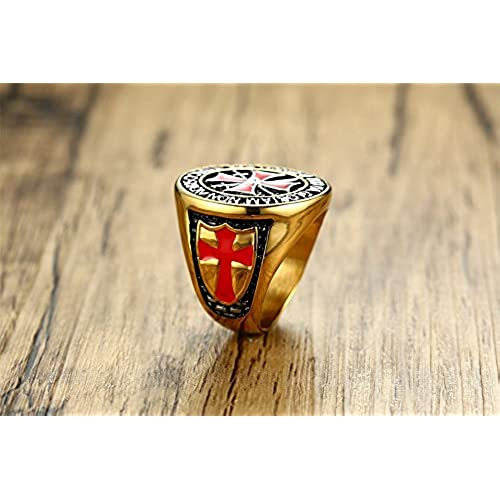 Stainless Steel Superman Heavy Ring Sz 11
