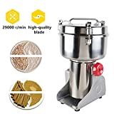 1000g Household Chinese Herbal Medicine Grinder Electric Milling Machine Stainless Steel Crushing Chamber,29000 rpm Motor Speed Suit for Clinic, Hospital, Family, Laboratory-3or4 Days Delivery