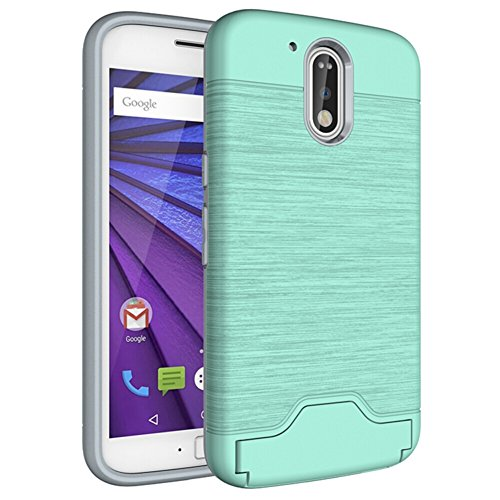 (TOTOOSE Motorola Moto G4 Case, Stylish Thin Durable Protective Case Shockproof Boys Protective Cover Case with Corner Protection Design for Motorola Moto G4 (Mint)