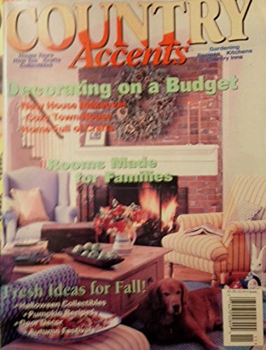 Country Accents Magazine November December 1995 - Decorating on a Budget - Fall Ideas - Halloween Decor