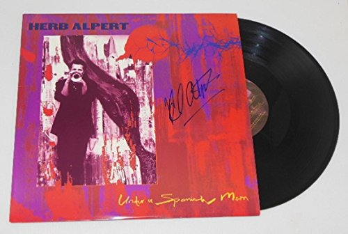 Herb Alpert Under a Spanish Moon Authentic Signed Autographed Lp Record Album with Vinyl Loa from Star Gallery