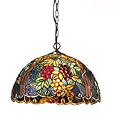"""FUMAT Tiffany Pendant Lamp Antique Stained Glass Light Dining Living Room Lighing D11.75"""""""