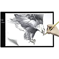 7500 Lux Tracing Light Box A4 Ultra Thin Tatoo Tracing Light Table LED Light Box Tattoo Pad with Stepless Adjustable Brightness for Animation, Designing, Sketching, Drawing, Artists, X-ray Viewer -USB