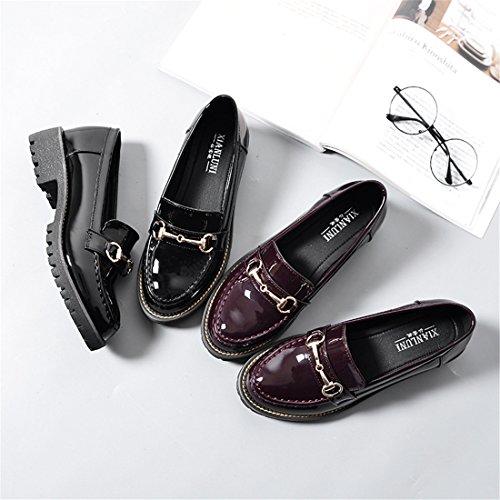 Mocassini Casual Da Donna Classici - Mocassini Alla Guida Morbidi Slip On Shoes 87-7 Nero