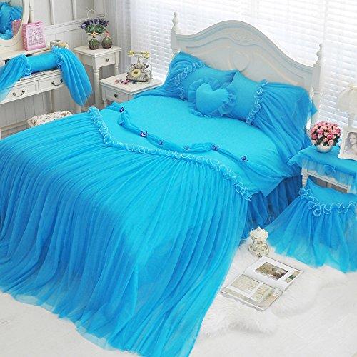 Bedding Princess Cotton Bed Skirt Size 150*200cm - 3