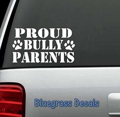 Proud Bully Parents Pit Bull Tribal Pitbull Vinyl Sticker for Car Truck SUV Window Vinyl Sticker Decal for Car Truck SUV Window Vinyl Sticker
