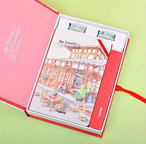 Easyflower Convenient Practical School Stationary Writing Set Idea for Girls Boxed Children's Notebook & Stationery Gift Set(Sichuan Restaurant) -