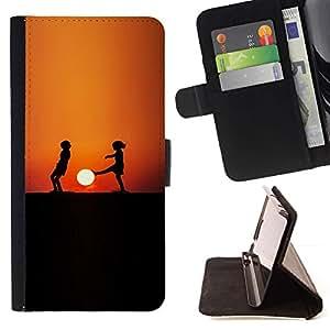 Momo Phone Case / Flip Funda de Cuero Case Cover - Sunset Niños;;;;;;;; - Samsung Galaxy Core Prime