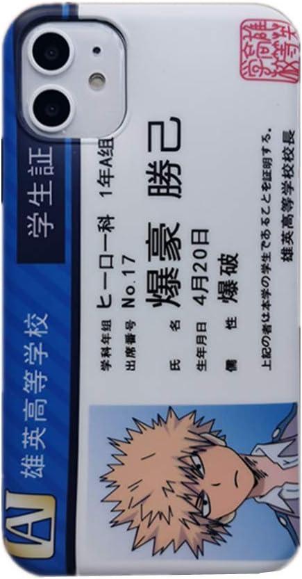 Amazon.com: for iPhone 11 Case Cover, Japan Anime My Hero Academia Midoriya Bakugo Case Name Card Silicone Soft Phone Case Back Cover for iPhone 11 Pro Max Xs Max XR 8 Plus (Bakugo, for iPhone 11)
