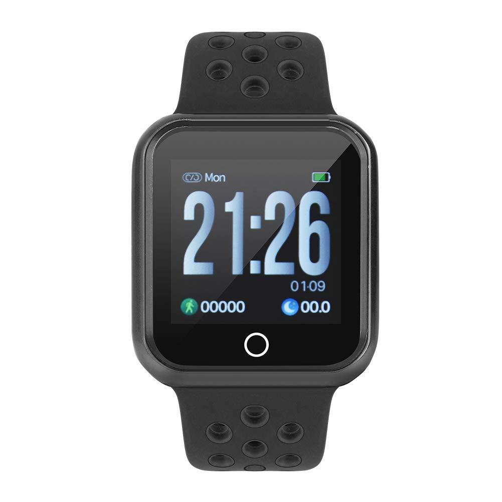 Zerone Fitness Tracker podómetro Smartwatch Tensiómetro Pulsómetro IP67 Resistente al Agua Fitness Reloj Podómetro Pulsera para Mujeres y Hombres para iOS y ...