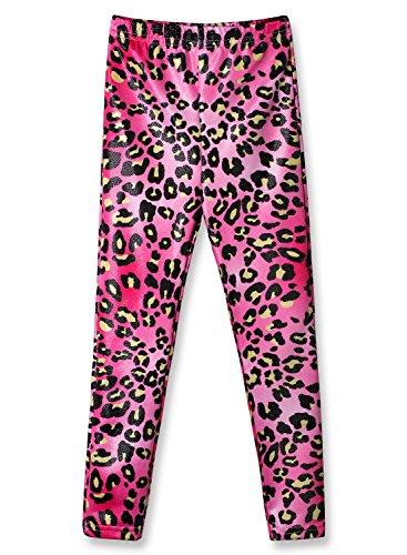 Girls Stretchy Leggings Mermaid Prints Pants for 3-11Y (Rosy, 130 (7-8Y)