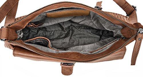 """Gusti Leder studio """"Marisol"""" Bolso de Mano de Cuero Genuino Mujer Tiempo libre Shopper Compras Vintage Retro Fiesta Piel de Cabra Marrón Claro 2H62-29-1"""