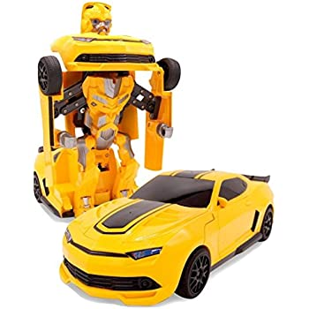 Yellow Bumble Gesture Sensing Car Toy with One-Button