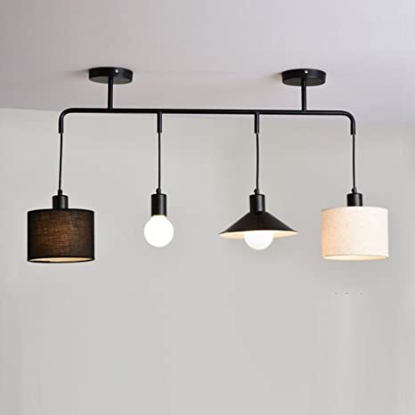 Brilliant - Lámpara de techo, 4 focos de altura regulable ...