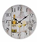 Item French Inspired White Wine Chardonnay Wall Clock - 13.3''