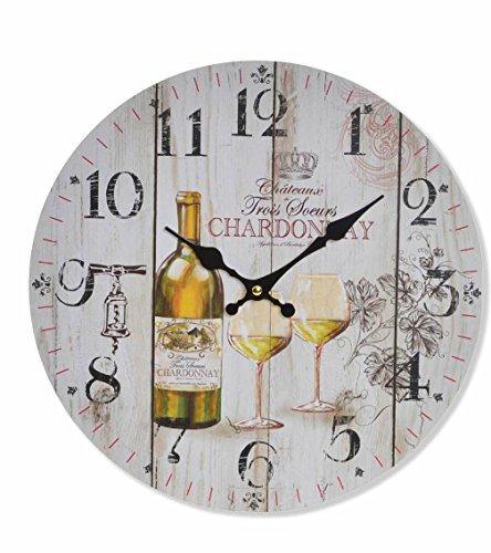 Item French Inspired White Wine Chardonnay Wall Clock - 13.3
