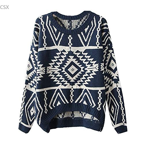 Manches Longues Femme G Tricot Haut SIKESONG Impression FtSqZ