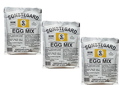 Pack of 3 Sonstegard Powdered Egg Mix, 6 Oz - Mix Egg