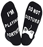 YILLEU Do Not Disturb I'm Playing Fortnite Socks for Men Boys Perfect Gift for Game Lovers-crew socks 1 pair