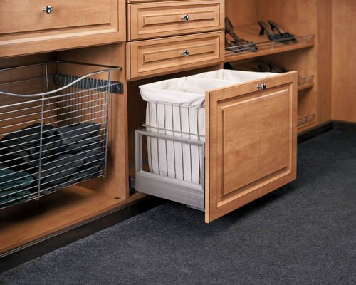 Hamper Bottom Mount Rev-A-Motion™ with Wire Bins CH-241419-RM-217 by Rev-A-Shelf