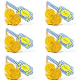 Madelaine Solid Premium Milk Chocolate Traditional Hanukkah/Chanukah Gold Coins Wrapped In Italian Foil - 6 Mesh Bags